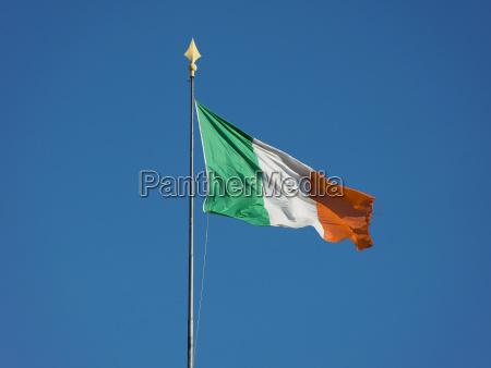 bandeira irlandesa de ireland sobre o