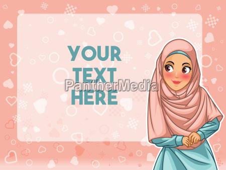 mulher muculmana vestindo rosto de hijab