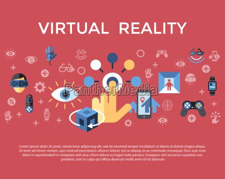 conceito de realidade aumentada virtual de