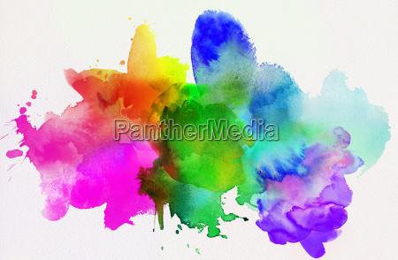 resumo de arco iris aquarela isolado