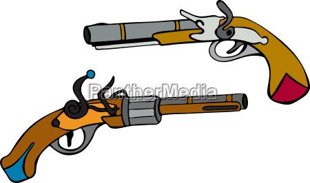 antigo pistola arma squeaky arma de