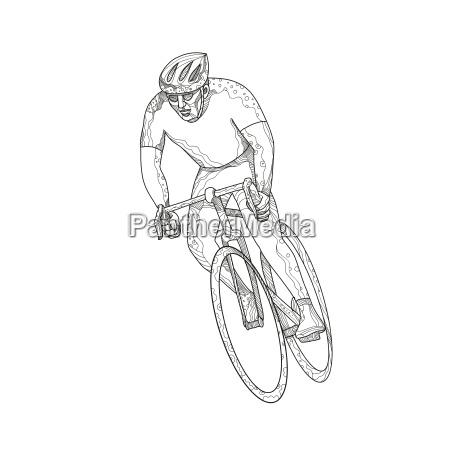 bicicleta da estrada que compete o