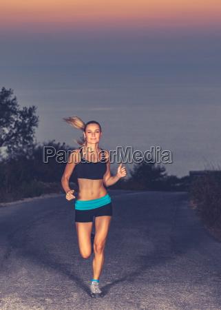 beautiful running girl