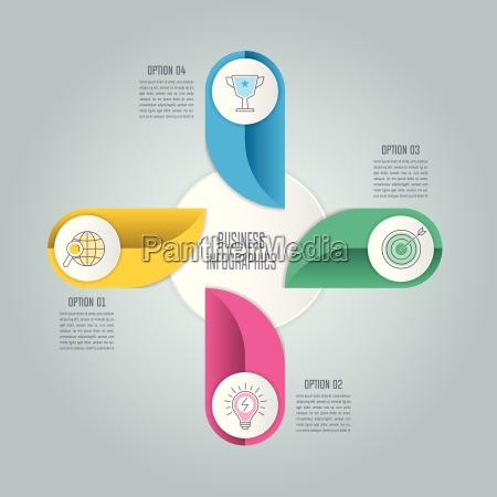 conceito de negocio de design infografico