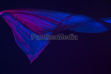 pano azul transparente elegante liso separado