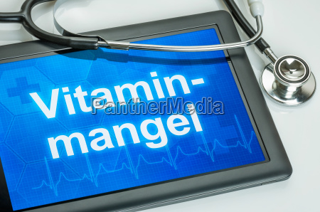 tabuleta com a deficiencia da vitamina