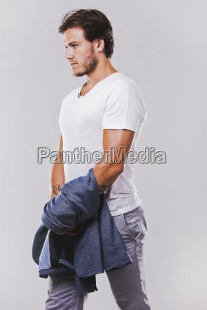 cara moda elegante moderno masculino retrato