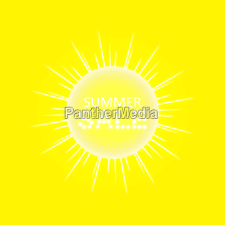 super summer sale banner with sun