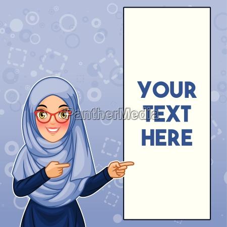 hijab vestindo e vidros da mulher