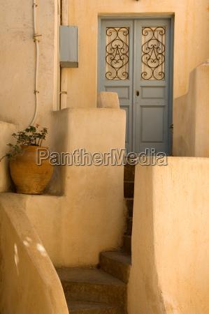 azul escada grecia portao canteiro porta
