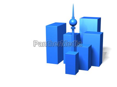 azul casa edificio de varios pisos
