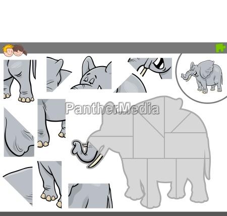 jogo de quebra cabeca com animais