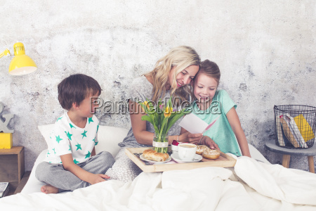 mothers day children surprise their