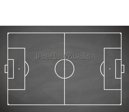 campo de futebol de placa preta