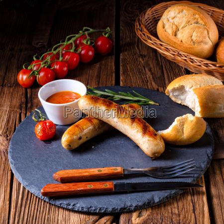 alimento quente delicioso refeicao alemao grelha