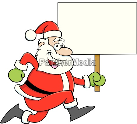 cartoon illustration of a santa claus