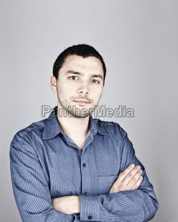 studio portrait of hispanic man actor