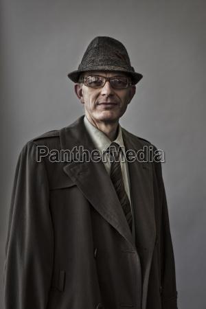 studio portrait of caucasian man actor