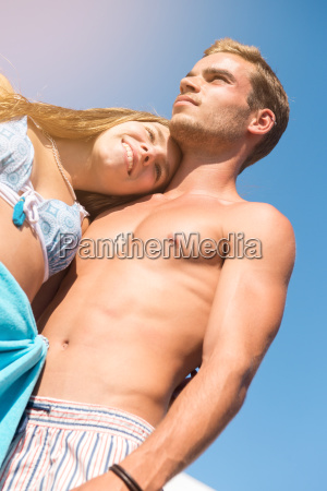 young couple at the beach