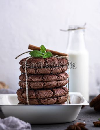 baked round cookies tied with a