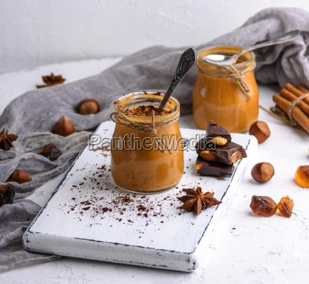 caramel dessert toffee in a glass