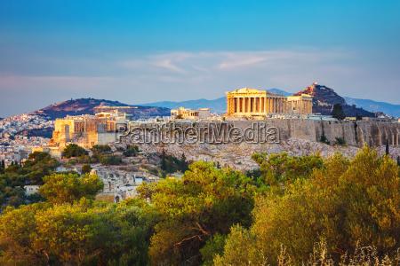 acropole em atenas grecia