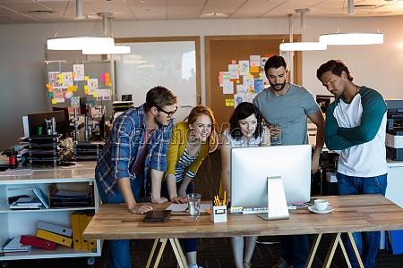 equipe creativa do negocio que trabalha