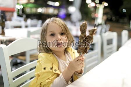 greece portrait of little girl sitting