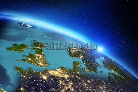 azul projeto espaco ciencia verao nascer