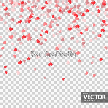 seamless confetti hearts background with vector