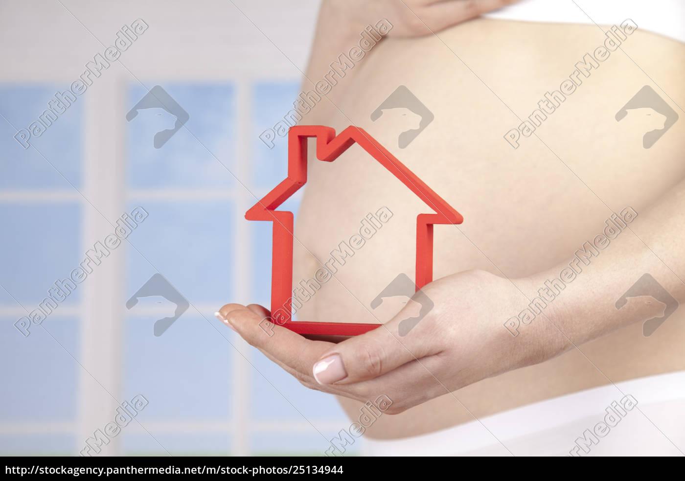 casa, nova, grávida - 25134944