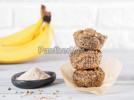 muffins de banana com farinha de