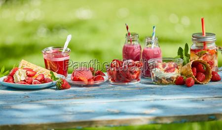 sweet summer berry smoothie menus and
