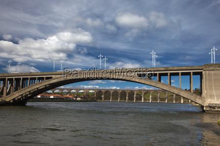 en bro over en flod tweed