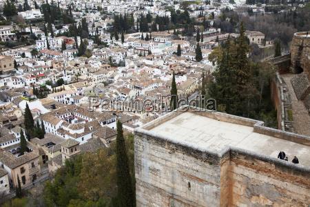 alhambraens vaegge granada andalusien spanien