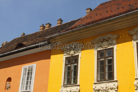 painted buildings in the castle district