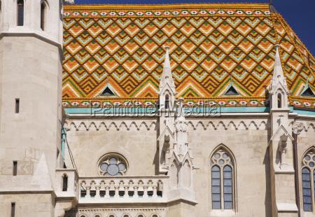 mosaic roof details on saint mathias