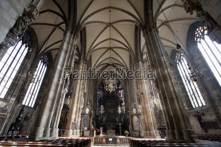 high altar with the altarpiece by