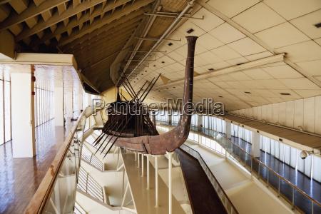 khufus solar boat on display at