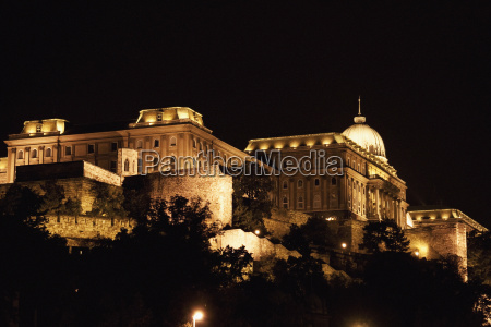 royal castle at night budapest hungary