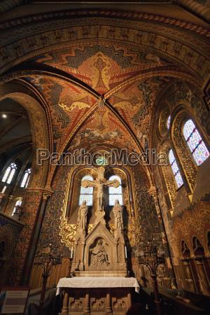lateral altar in the matthias church