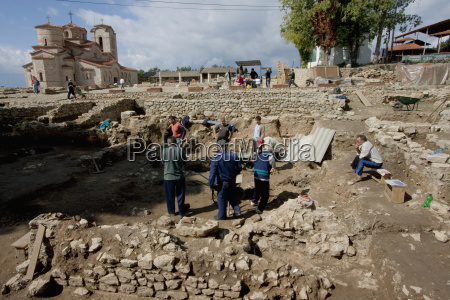 archaeological excavations of the polyconchal basilica