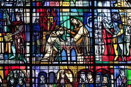 stained glass window in eglise st