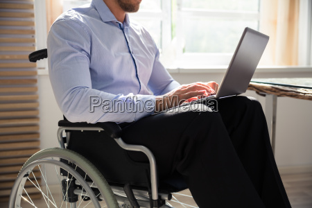 cadeira de rodas local de trabalho