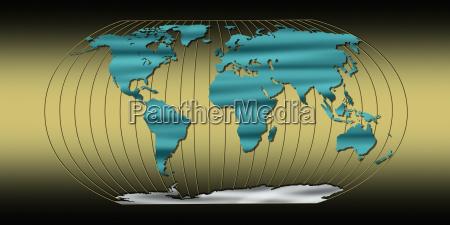 mapa do mundo com linhas longitude