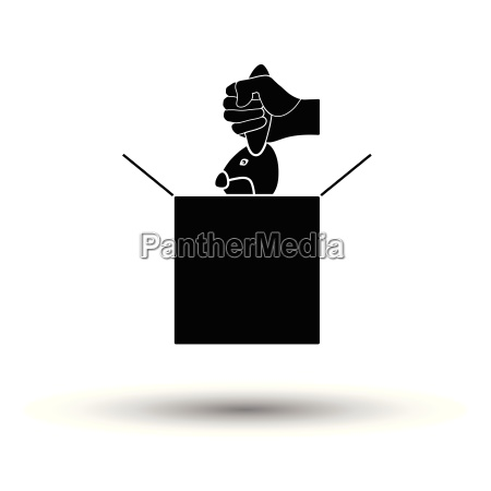 rabbit in magic box icon