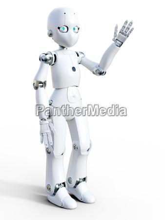 saudacoes desenho animado robo maquina saudacao