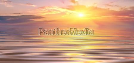 cor horizonte por do sol luz