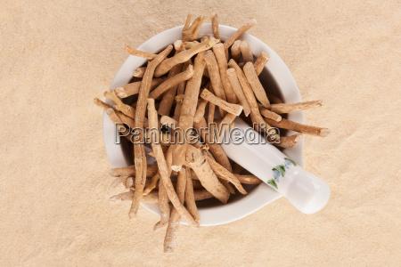 alimento raiz tradicional bege seca medicina
