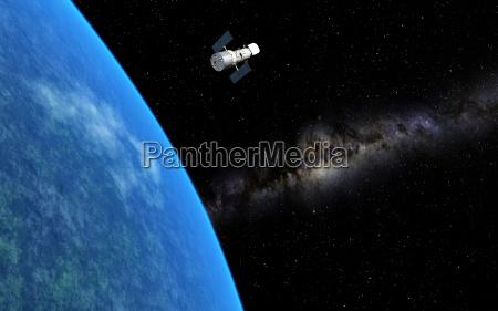 universo telescopio globo terra estrelas asteriscos